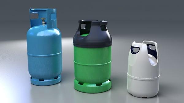 gas tanks 3d model