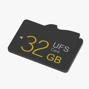 3d model ufs memory card