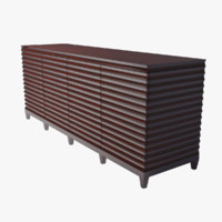 FLUTED LOW CABINET baker