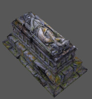 Crusader tomb (real-time, game ready)