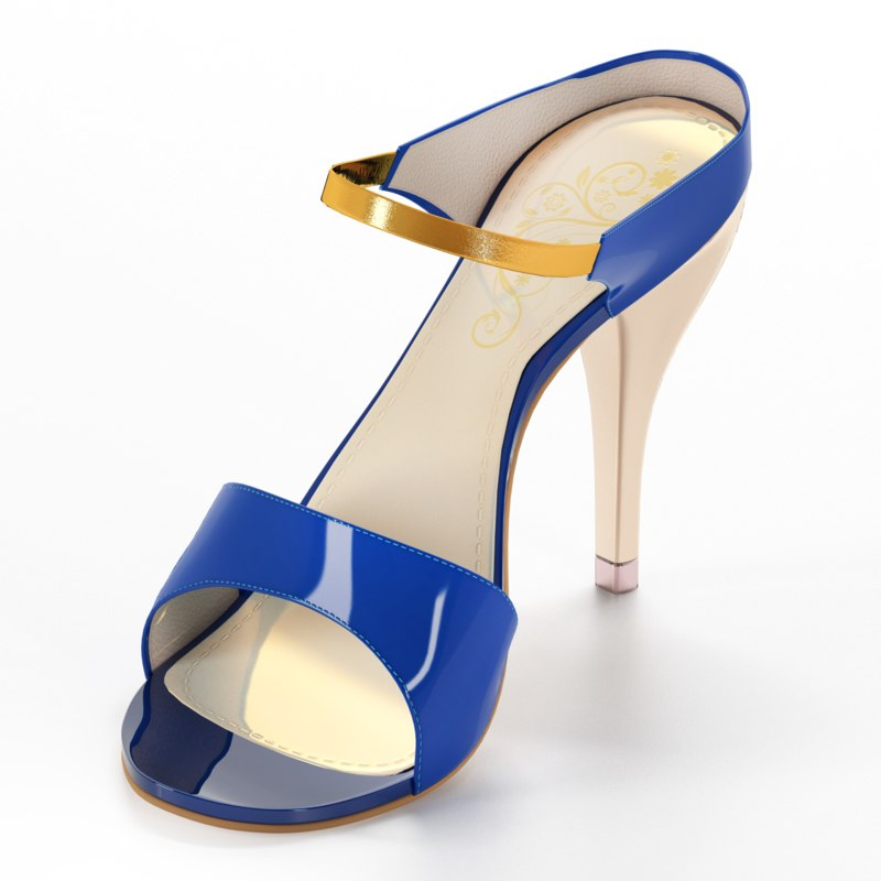 heels women sandals 3d obj