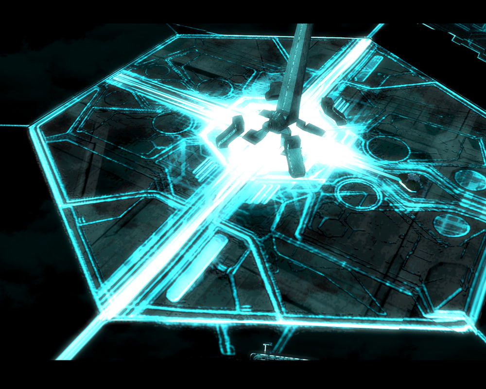grid city tron 3d model