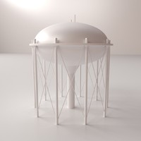 water tower v3 3d model