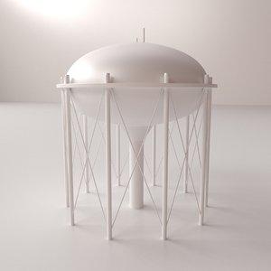 water tower v3 3d model
