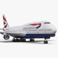 boeing 747-300 british airways 3d max