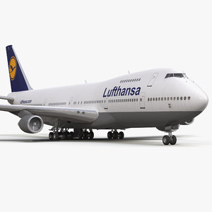 3d model boeing 747 200b lufthansa