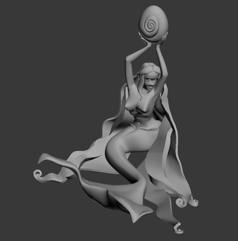 sculpture mermaid max