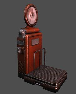weight machine 3d model