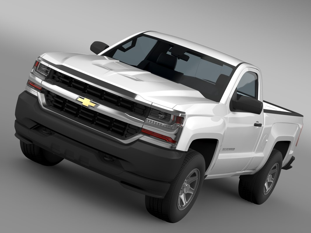 3d model of chevrolet silverado wt regular