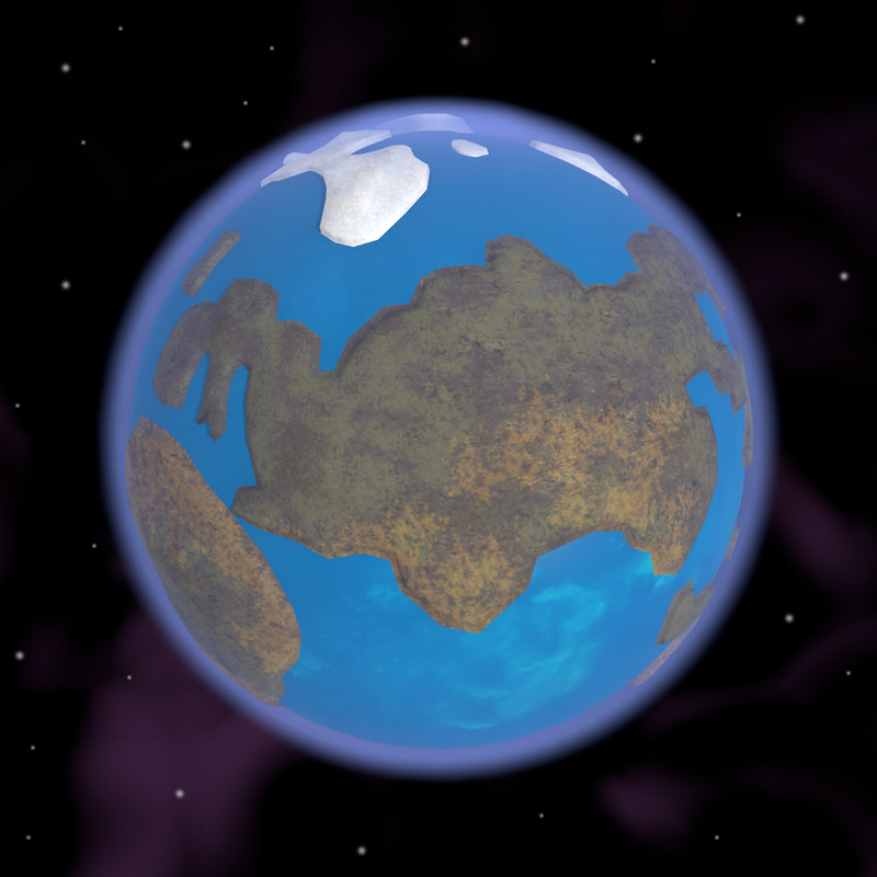caricature earth continents 3ds