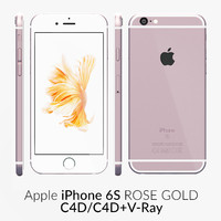 3d iphone 6s rose gold model
