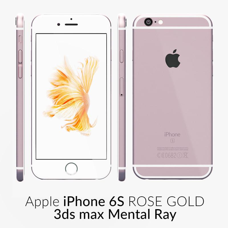 max iphone 6s rose gold