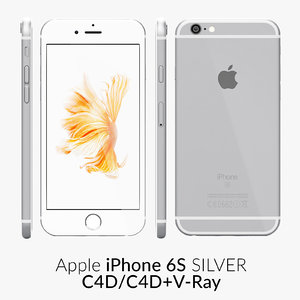 iphone 6s silver 3d c4d