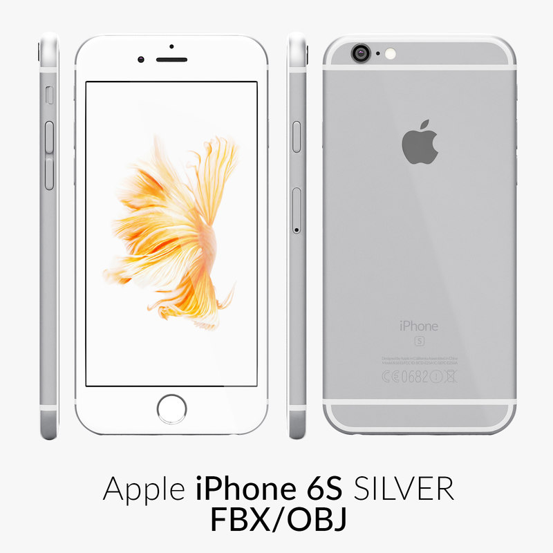 3d model iphone 6s silver