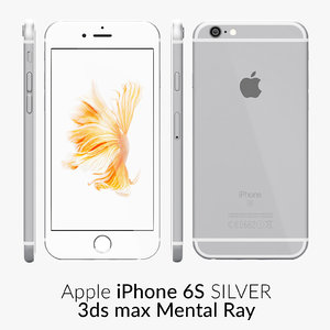 iphone 6s silver 3d x
