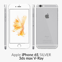 iphone 6s silver v-ray 3d model