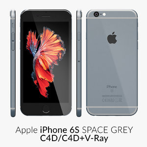 iphone 6s space grey c4d