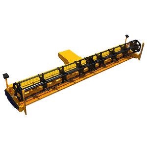 3d combine threshing machine