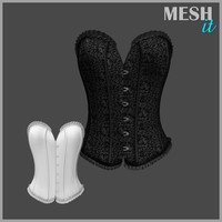 3d corset black