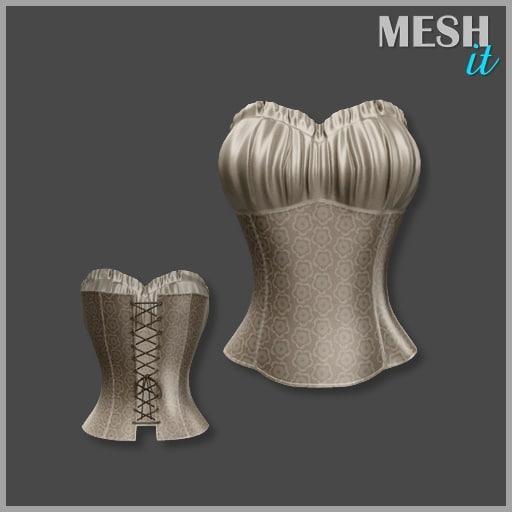 3d corset beige