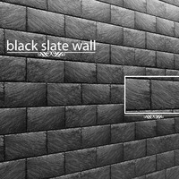 stone slate black 3d model