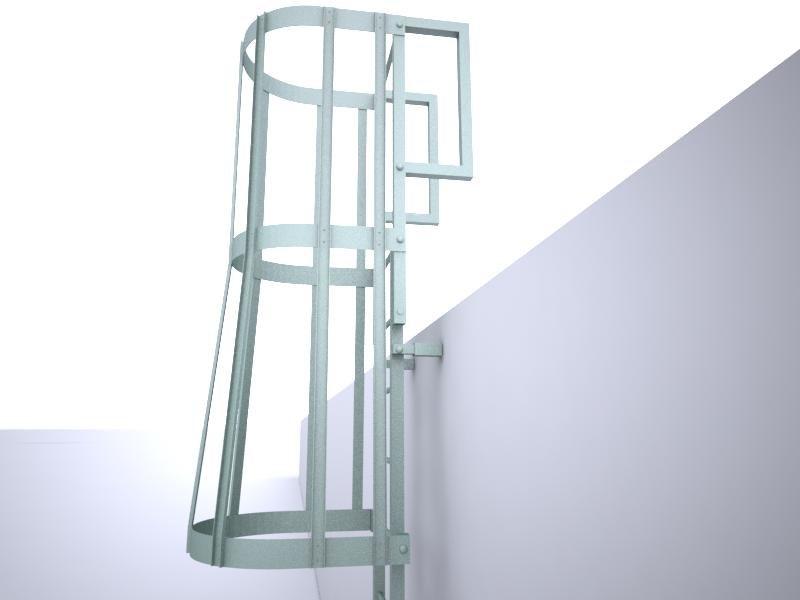 3d stairs escape model