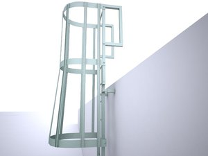 3d stairs escape model