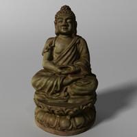3d buddha statuette
