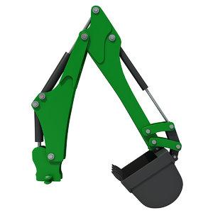 3d shovel backhoe crane
