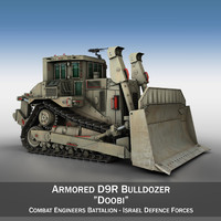 IDF Armored CAT D9R Bulldozer