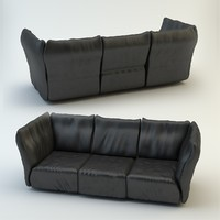 leather sofa edra 3d model