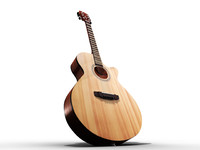 3d model cort acoustic guitar