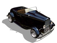 3d model of 1932 roadster