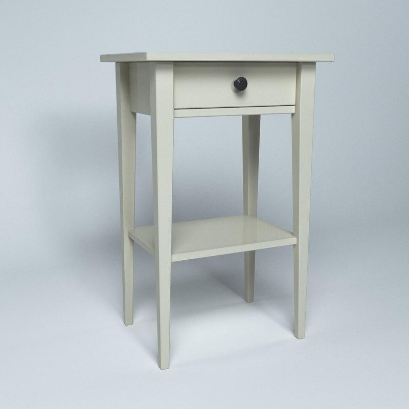 ikea furniture hemnes table 3d model
