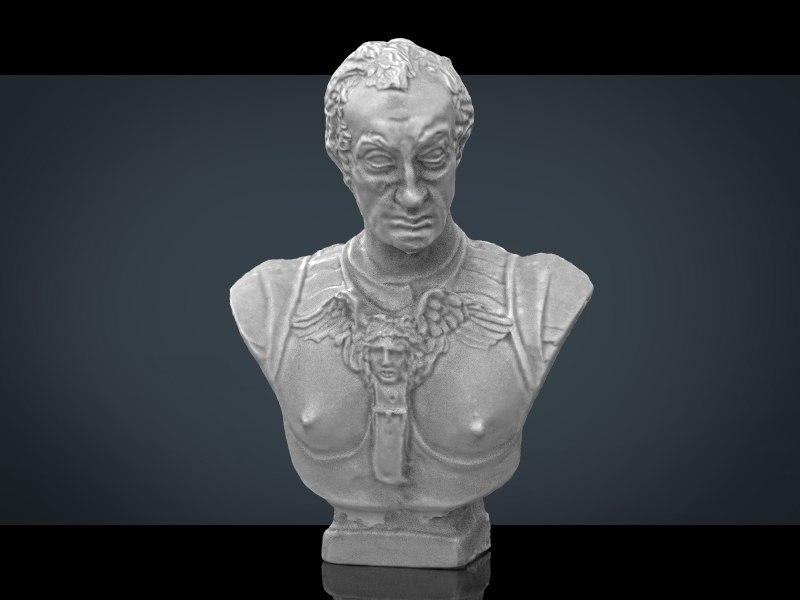 3d model roman bust