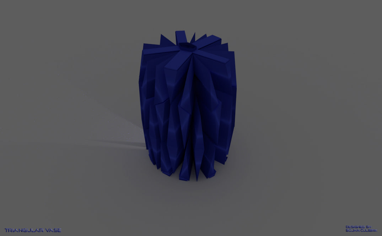 triangular vases set 3d model