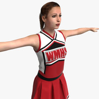 Cheerleader Rigged