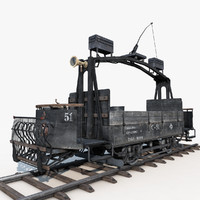 3d model old tram repair