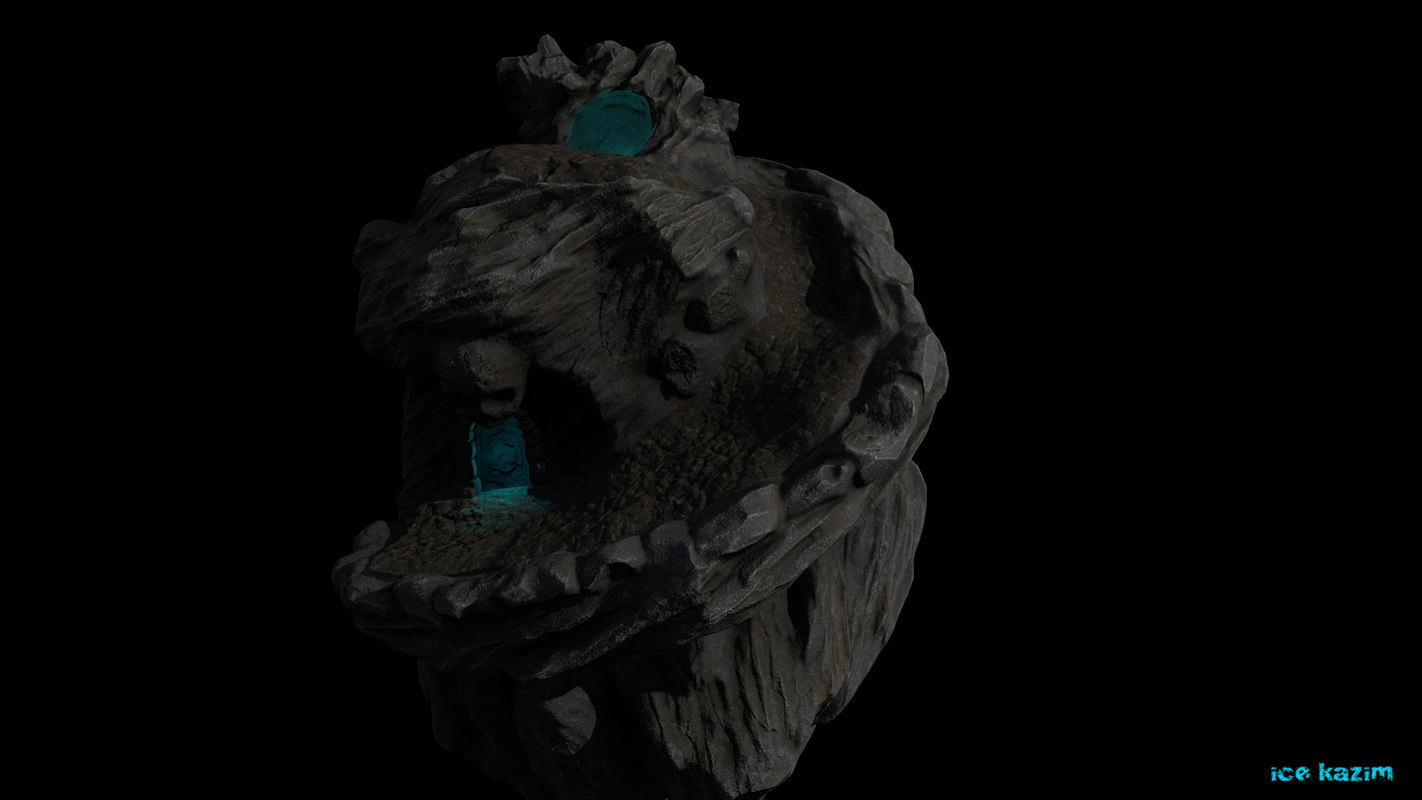 3d model of skull cave
