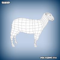 base mesh sheep 3d obj
