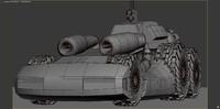 3d space truck model