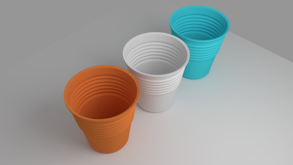 plastic cups 3d obj