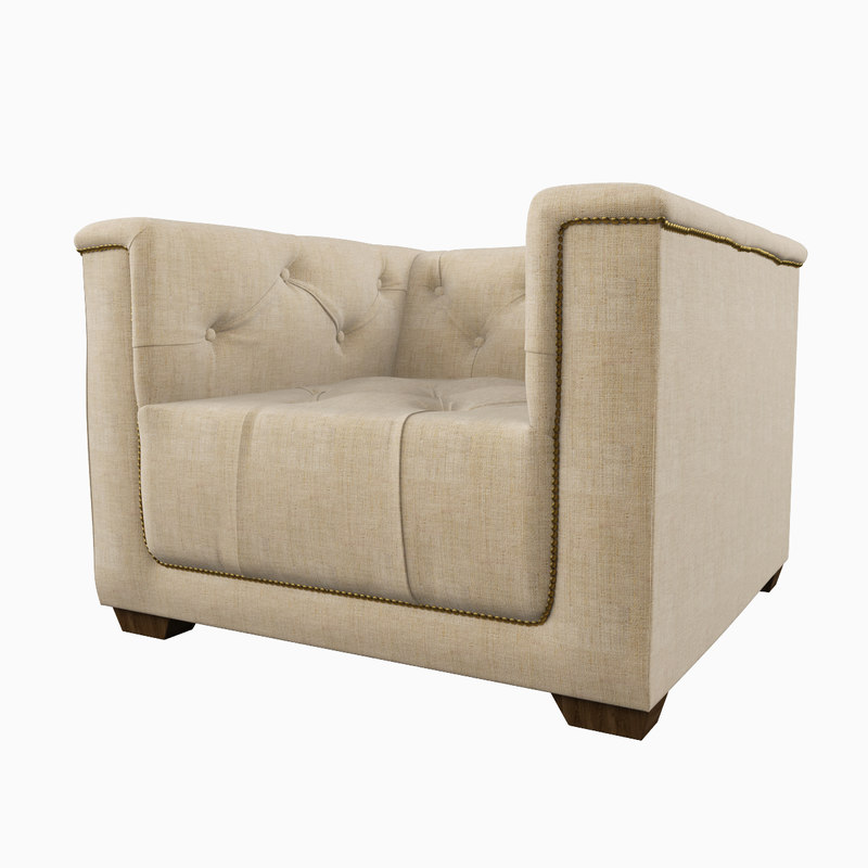 Restoration Hardware Hq: Restoration Hardware Savoy Upholstered 3d Max
