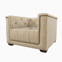 restoration hardware savoy upholstered 3d max