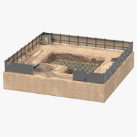 construction pit 5 3d max