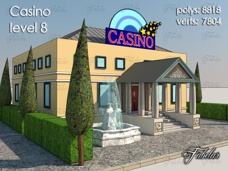 3d model casino level 8