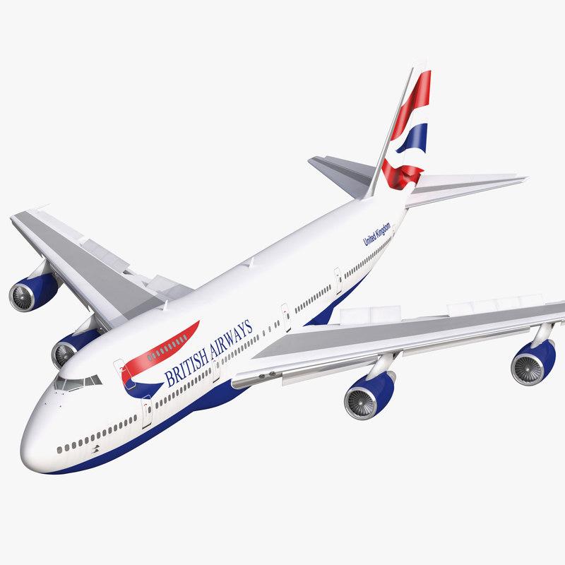 boeing 747 200b british airways 3d model