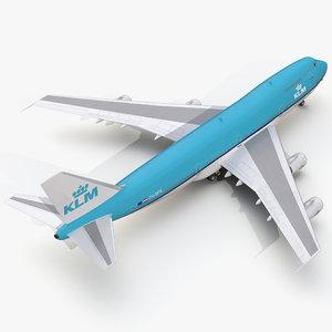 boeing 747-200b klm 3d max