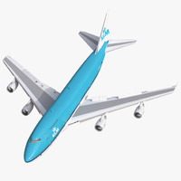 3d model boeing 747 200b klm