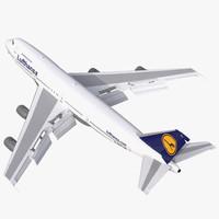 boeing 747 200b lufthansa 3d model